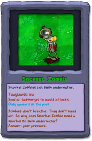 Almanac Card Snorkel Zombie