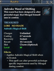 Aubraks Wand of Shifting