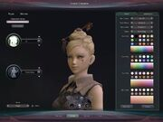 Character creation screen