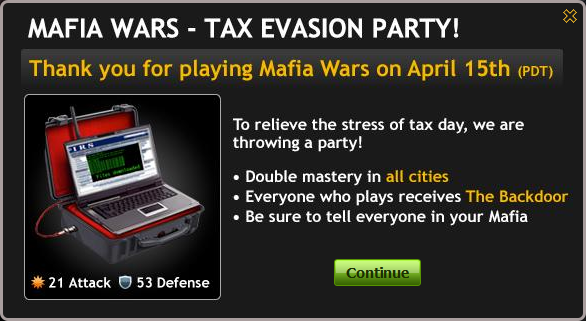 Tax Evasion Party