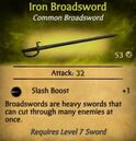 Iron Broadsword