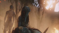 Neytiri cries
