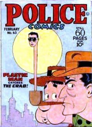 Cover for Police Comics #63
