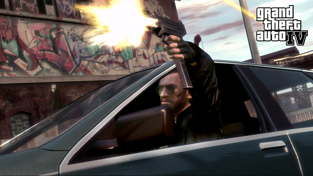 GTA IV Drive By shooting