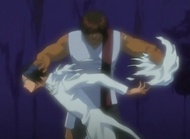 Sado tears Uryu&#39;s cape in Dangai