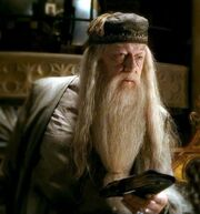 Dumbledore holding Tom Riddle&#39;s Diary 01
