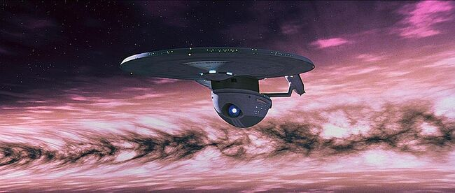 USS Excelsior escapes shockwave