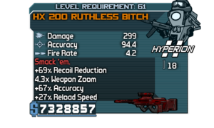 HX 200 Ruthless Bitch