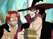 Mihawk y Shanks