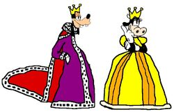 King Goofy and Queen Clarabelle