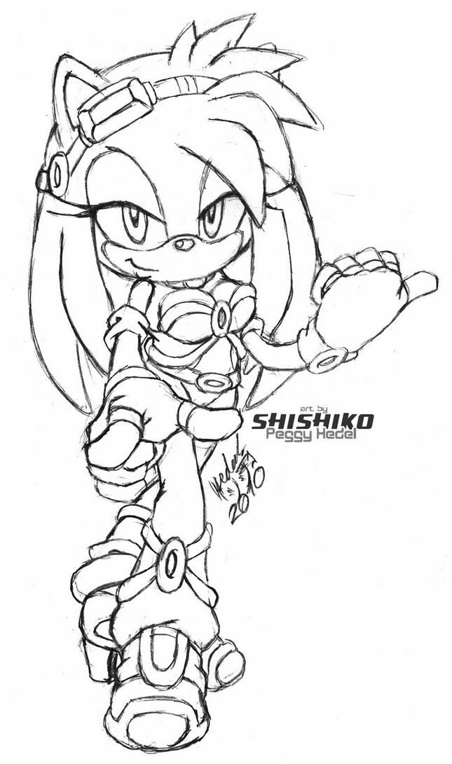 sonic wolf coloring pages - photo#2