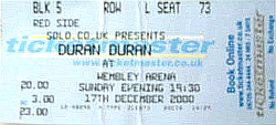 17 DEC 2000 DURAN TICKET