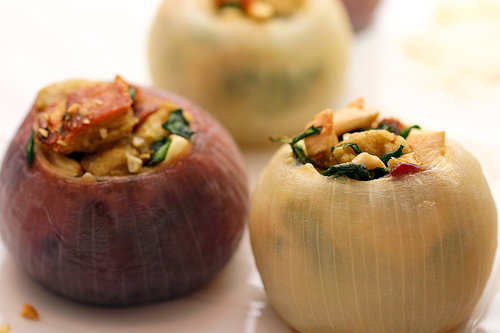 Baked Stuffed Onions by JayMan3 - Vegetarian Recipes Wiki