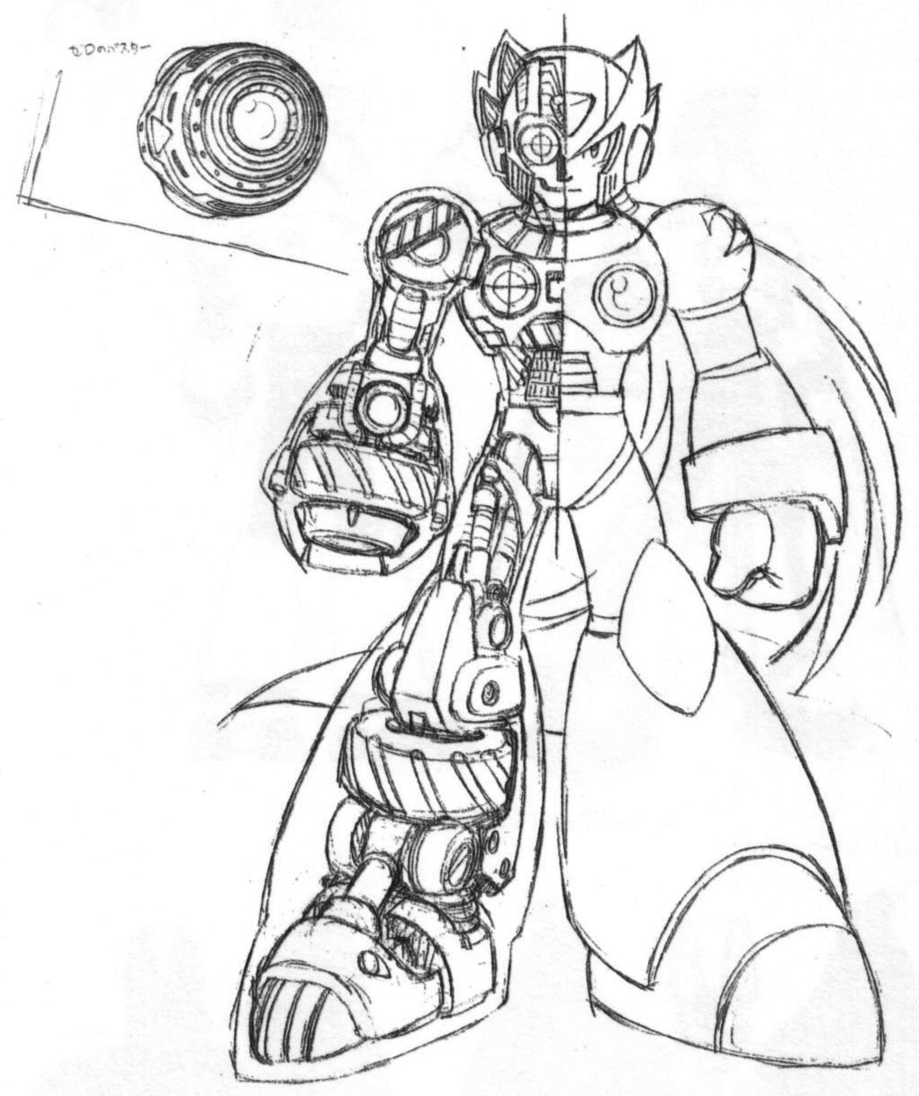 Megaman Zero Coloring Page Free coloring pages of oreo man