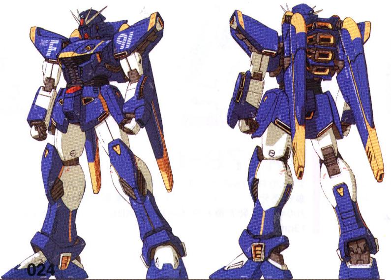 Gundam F-91, resin kit, 1/72 F91-gff-hf