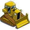 Yellow Bulldozer-icon