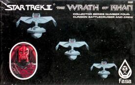FASA 3004 RPG miniature Collector Series Number Four Klingon Battlecruiser and Crew 1983