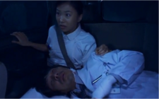 Mary and Doctor in car