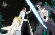 Aizen saves Harribel
