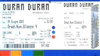 Ticket duran duran 4 june 2005 verona 200