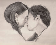 Edward and Bella Twilight Kiss by petrosptrs