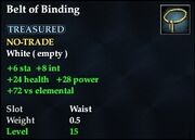 Belt of Binding
