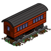 Red Passenger Car-icon