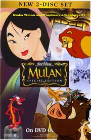 Simba Timon and Pumbaa's adventures of Mulan Poster