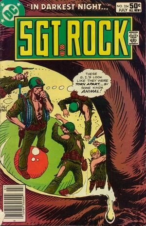 Cover for Sgt. Rock #354