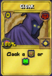 Cloak Treasure Card