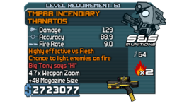 TMP88 Incendiary Thanatos Dr F