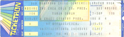 Ticket duran duran 13 march 1984