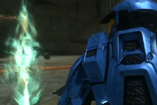 Caboose and the Delta hologram