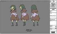 Modelsheet skeletonprincess