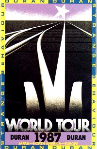 Duran duran world tour 1987 poster