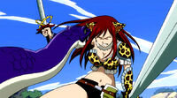 Snake bites Erza