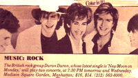 Duran duran advert DD19840003