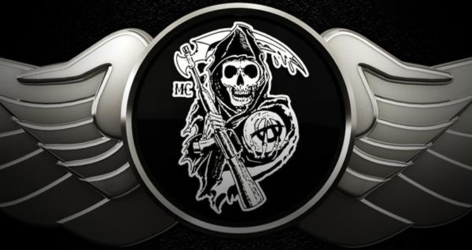 Sons of Anarchy Reaper Logo Plain