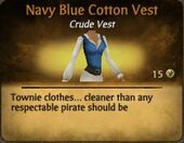Navy Blue Cotton Vest