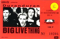 Duran duran ticket bercy france