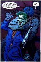 Jason Todd threatens to kill the Joker if Batman will not