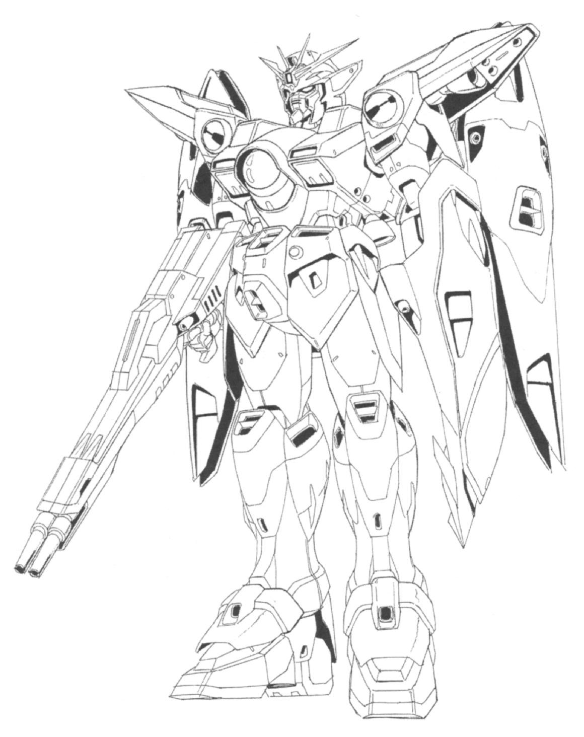 gundam wing coloring pages - mobile suit gundam wing free colouring pages