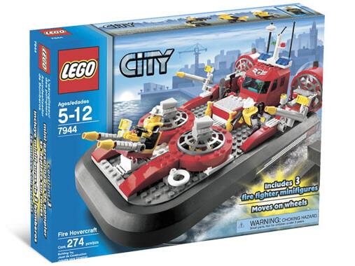 Пожарный аэромобиль - конструктор Лего City - Lego 7944 - фото 1.