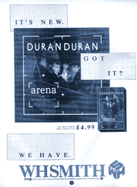 Duran duran advert uk wh smith