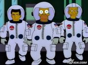 Homer Simpson as an Astronaut