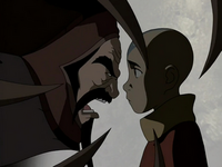 Koh yells at Aang