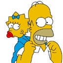Simpsons Homer-Lisa
