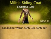 Militia Riding Coat