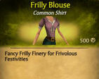 F Frilly Blouse