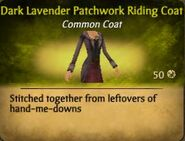 F Dark Lavender Patchwork Riding Coat